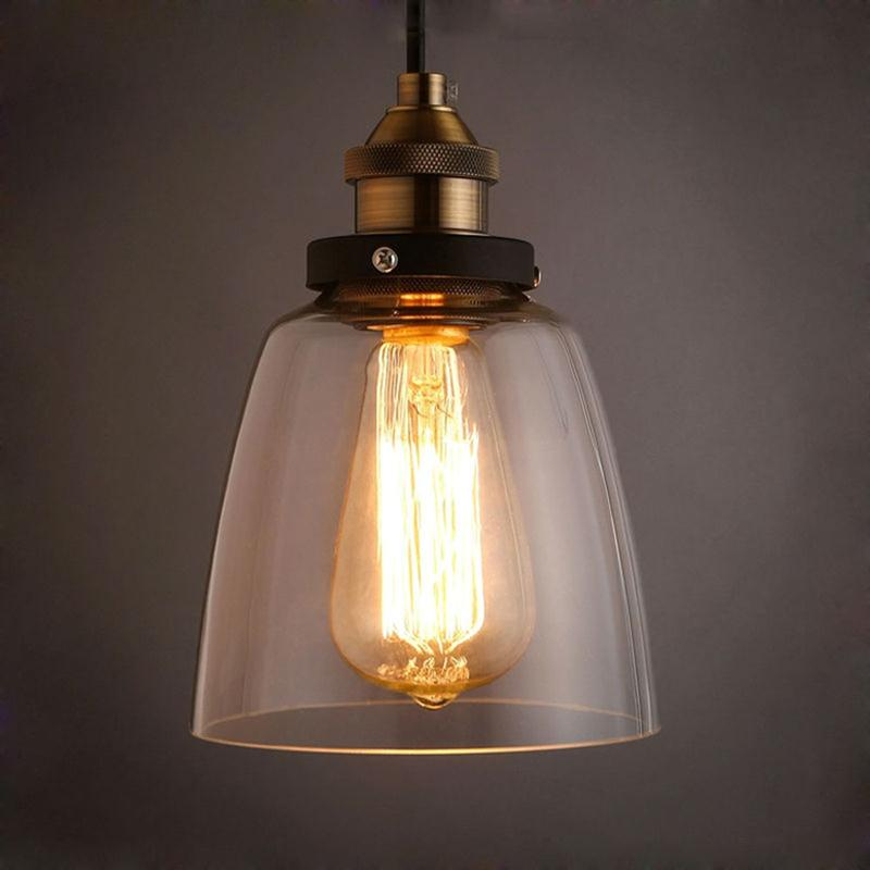 Glass Nordic Retro Loft Style Industrial Lamp Edison Pendant Lights Fixtures Dinning Room Vintage Hanging Light Lamparas<br>