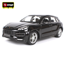 BBURAGO alloy car model 1:24 Porsch Macan  simulation car model Collection Diecast Toys Gifts for children