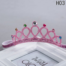 New Style Glittering Crown Headband Girls Hair Band New Head Wrape Hair Accessories Princess Tiara Headband(China)