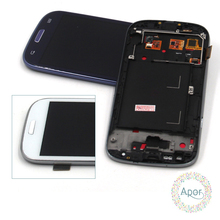 i9300 LCD Compatible For Samsung Galaxy S3 i9300 LCD Screen Display Touch Screen Digitizer Replacement Parts Assembly +frame(China)