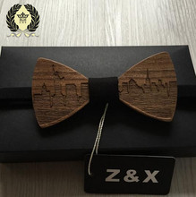 HOT SALE Formal Commercial Wooden Bow Tie Male Solid Color Marriage Bow Ties For Men Butterfly Cravat Wood Bow Tie(China)