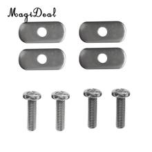 MagiDeal High Quality 4 Sets Stainless Steel Screw&Oval Nut Hardware for Kayak Canoe Rowing Boat Track/Rail Mounting Water Sport(China)