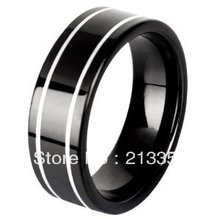 !USA S BRAZIL RUSSIA CANADA UK HOT SELLING 8MM PIPE BLACK MEN'S BRIDAL TUNGSTEN WEDDING RING - Top Fine Jewelry World ( and retail jewelry store store)