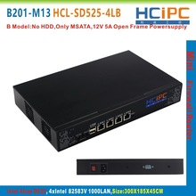 HCiPC B201-M13 HCL-SD525-4LB, ATOM D525 82583V 4LAN Mini Firewall Barebone,4LAN Mini Router,Mini PC,4LAN Motherboard(China)