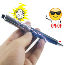 Peradix Fancy Ball Point Pen Creative Black Prank Trick Pen Electric Shocking Gadget Gag Toys Fun Novelty Jokes Toys