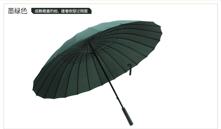 Hot sell Creative long handle outdoor 24 Rib bone straight umbrella large golf umbrellas two or three people compact umbrellas 10