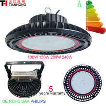 led high bay light 100W 150W 200W 240W industrial light ufo led high bay light manufacturer factory lamp 5 years warranty