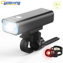 Cycloving bicycle light Bike lights 5 modes Wide floodlight 85Degree rechargeable waterproof Bike Accessories(China)
