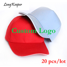 Long Keeper 2018 New Arrival Golf Baseball Caps Custom Logo Sports Hats For Men Women Snapback Outdoor Solid Gorras 20pcs/lot(China)