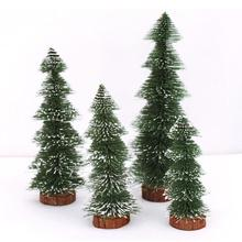 New Mini Christmas Tree Stick White Cedar Desktop Small Christmas Tree decorations holiday gifts desktop furnishing articles