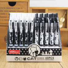 5 pcs/lot Cute Kawaii Ballpoint Pen Lovely Cartoon Cat Ball Pens For Kids Gift School Supplies Free shipping 2608(China)