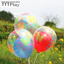 Buy 10pcs/lot 12inch Transparent Balloon Romantic Butterfly Printed Clear Balloon Wedding Birthday Party Supplies Decoration Balloon for $1.49 in AliExpress store