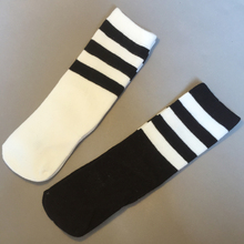 Baby Girls High-Knee Socks Autumn Warm Football Strips Sock Cotton School Soccer Boots Sport Long Leg Socks