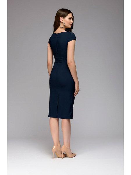 Summer 2018 Dress Women Solid Slim dress Short Sleeve Office Business Dress Elegant Sheath Party Vestidos 7