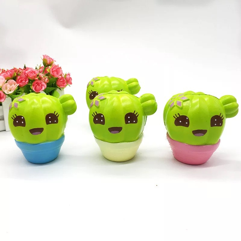 Fun Squishies Cactus Scented Squeeze Healing Squishy Slow Rising Soft Stress Relief Toys Phone Straps Keychain Gift Craft Decors (2)