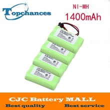 Free Shipping 4 Pcs 2.4v 1400mAh Home Cordless Phone Battery For Uniden BT-1007 BT1007 BT1015