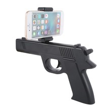 AR Gun Smart Pistol Bluetooth Game Handle Controllers W/ Phone Stand 3D AR Games Gun For Android ios(China)