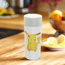 Personalized  BPA Free With Lid Plastic Insulated Modern Watercolor Kawaii Pikachu Japanese Anime Kid Water Bottle 300ml Gift