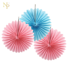 Nicro 3Pcs/Set 15CM Solid Hollow Flower Paper Fan Tissue Crafts Decor DIY Wedding Birthday Party Home Decor Supplie Paper Fan(China)