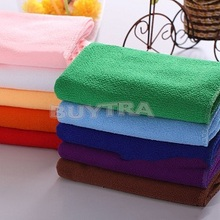 Popular 30* 70 cm Cleaning Clothes Microfiber Towel/Car Cleaning Wash Dry Clean Cloth/Brand Candy Color Hand/Face Towel(China)