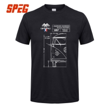 Men's Summer T Shirts Short Sleeve Blueprint Combi VW Bus Man O-Neck Short Sleeved T-Shirts Price Men Blue Men Tees(China)