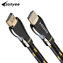 Zonyee HDMI Cable High Speed 3D 4K 60FPS HDMI 2.0 cable Braided Cord Cable with Ethernet ARC 3m 10 Feet 10m 15m 20m cable hdmi(China)