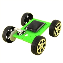 DIY Assemble Kids Baby Solar Car Toy Solar Vehicle Mini Solar Energy Powdered Toy Racer Child Kid Solar Car Education Toy 2017(China)