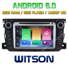 WITSON Android 6.0 Octa 8 Core 2GB RAM 32GB ROM CAR DVD GPS NAVIGATION for BENZ SMART 2010-2014+1024X600+DVR/WIFI+DSP+DAB+OBD