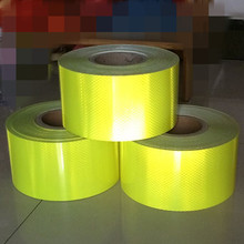 5cm*45.7M High Visibility School Bus Fluorescent Green Reflective Self-adhesive Warning Tape Safety Reflective Floor Films(China)