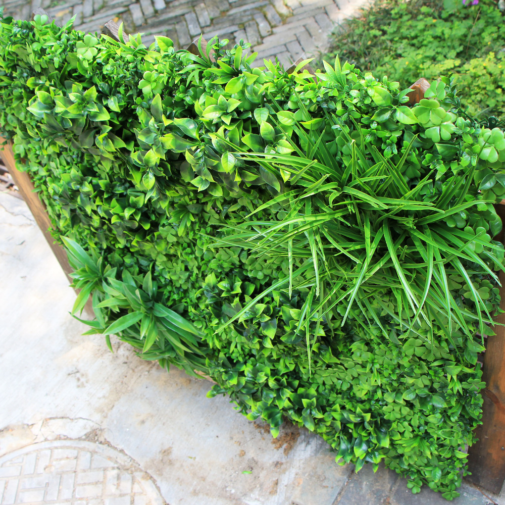 Artificial Boxwood Panels Hedge Wall Privacy Screen Topiary Plant 1x1m Greeny Walls DIY Mats Fencing Backyard Garden Decoration0