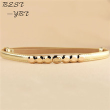 2016 New Fashion Accessories Decorative belts for women gold tone Alloy Buckle Paint thin belt girdle belt femaleladie's girl