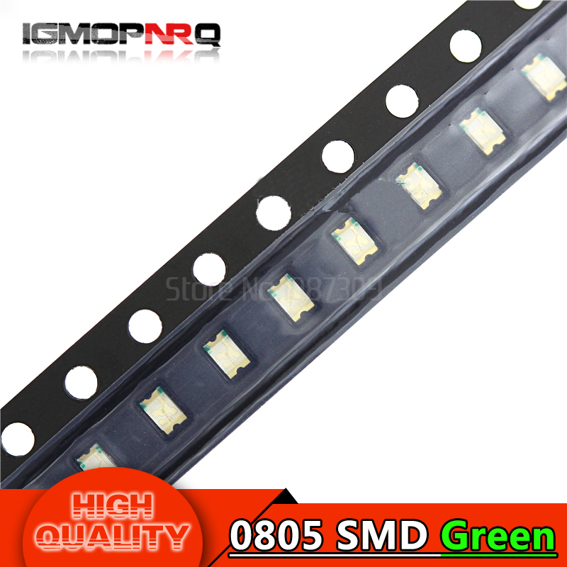 100pcs Green 0805 SMD LED diodes light(China)