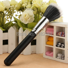 Pop 1x Makeup Black Cosmetic Duo Fiber Stippler Blush Foundation Powder Brush