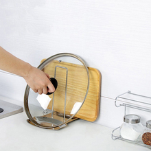Useful Stainless Steel Lid Cover Shelf Spoon Holder Cubierta Cubierta Estante Cuchara Resto(China)