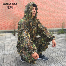 CS 3D Tactical Yowie Sniper Camouflage Clothing Bionic Ghillie Suit Camouflage Hunting Clothes Outdoor Tactical Hunting Suits(China)