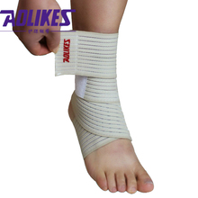 1 Pair Ankle Support Bandage MMA Running Sprained Ankle Wrap Football Basketball Ankle Protection Leg Strap HBK081(China)