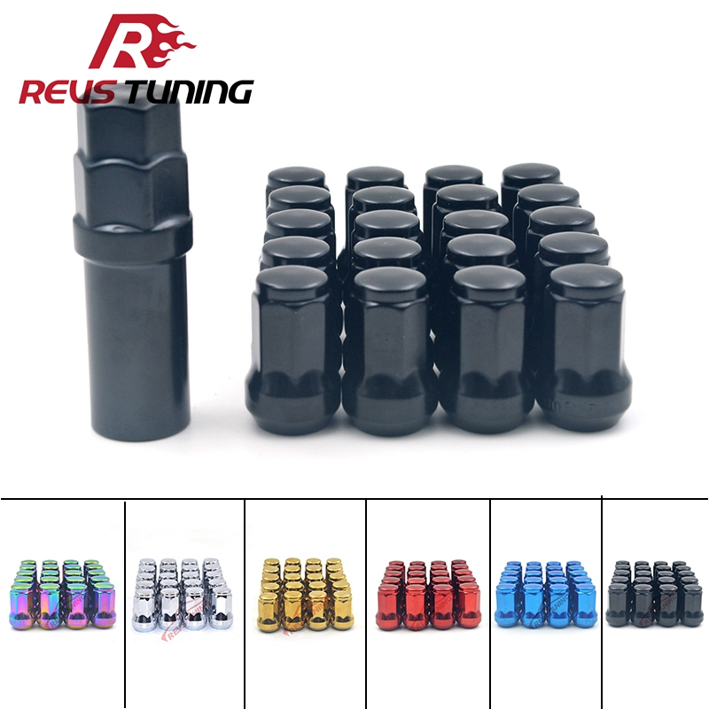 20//pcs RED HEAVY DUTY 12X1.5 Stainless Steel Extended LUG NUTS THREAD