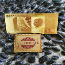 New 24k Gold Banknote National Bank Of Angola 5000 Kwanza Paper Money Collection Send Gold Certificate Make Money Selling