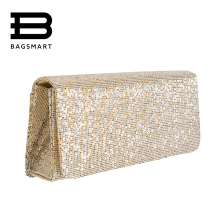 BAGSMART Girl Women's Bags Wallet Envelope Sequin Evening Bag Satchel Chain Clutch Handbag Party Charming Dress Handbags