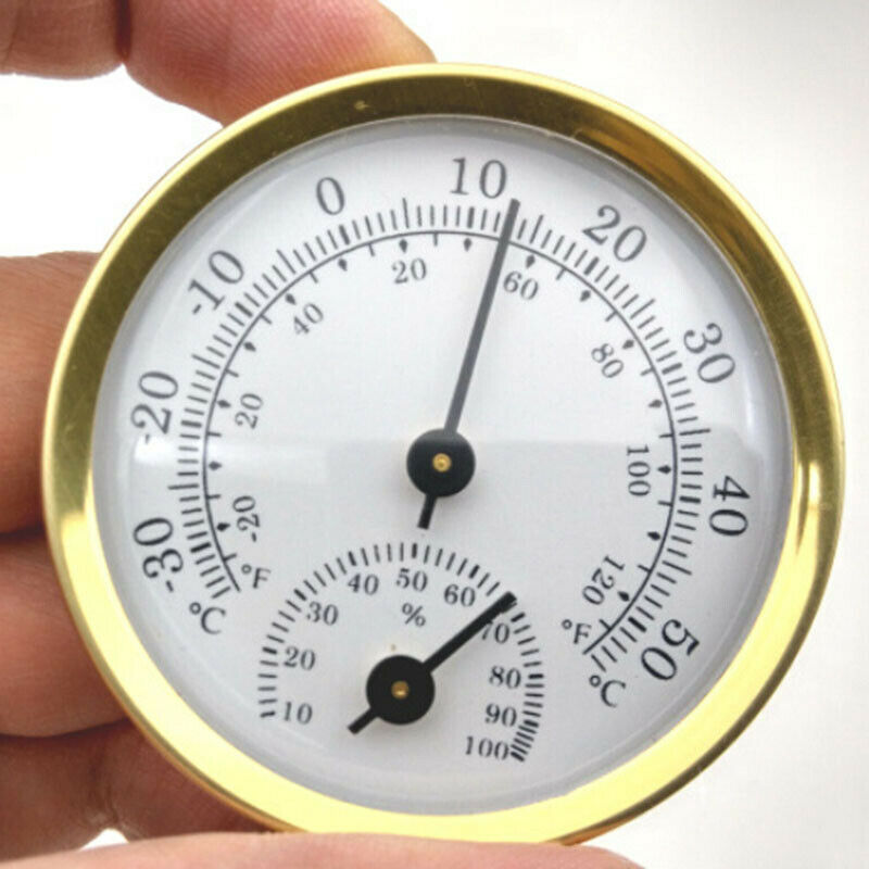 Mini Wall Mounted Temperature Humidity Meter Thermometer Hygrometer 57*12.5mm