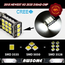 Sales!! 4x H3 21SMD 3535 1200LM LED Car Auto DRL Driving Daytime Running Fog Headlight DC12V White/Amber/Red/Blue