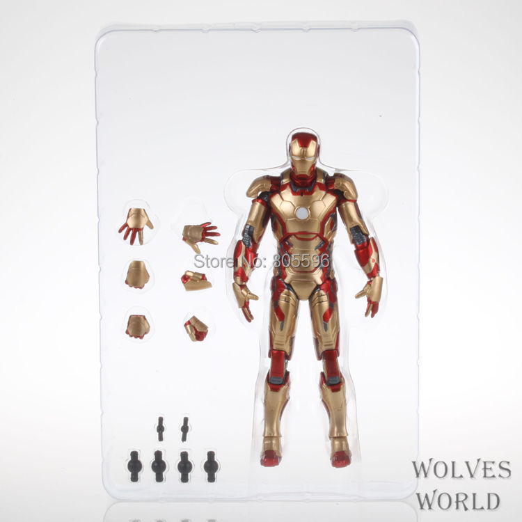 Marvel The Avengers Stark Iron Man 3 Mark VII MK 42 PVC Action Figure Collection Model Toy 7 18cm HRFG161<br><br>Aliexpress