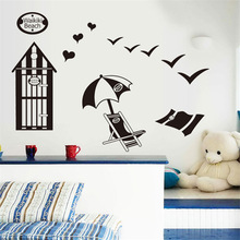 Wall stickers sitting room adornment removable wall stickers Tea of summer wet market environmental protection wall stickers(China)