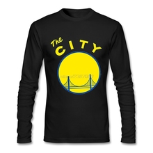 Fashion 2017 Clothes Golden State San Francisco The City California Popular T Shirts Cotton Hot Selling Mens Full Sleeve T-Shirt(China)