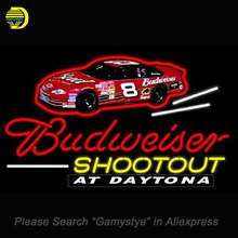 Budweiser Dale Jr Dayton Neon Sign SHOOTOUT Glass Tube Cool Neon Bulbs Custom Car Paint SHOP Garage Display neon lights Sign(China)
