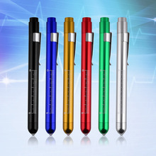 1Pc New Medical Surgical Penlight Pen Light Flashlight Torch With Scale First Aid Hot Sale