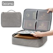 Pouch Organizer Document-Bag File-Pocket Papers-Storage Diploma Boona Oxford Waterproof
