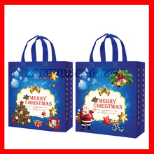 "(100pcs/lot) size W30X34XD12CM(12x13.6x4.8"") wholesale shopping bag christmas(China)"