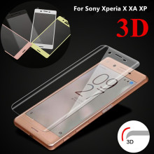 9H 3D Curved Surface Silk Print Full Cover Screen Protector For Sony Xperia X XA XZ X Performance Premium Tempered Glass Film