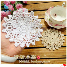 2016 new fashion design 20 pic 11cm round cotton placemat table mat cup pad doilies as coffee table decoration retro trivet(China)